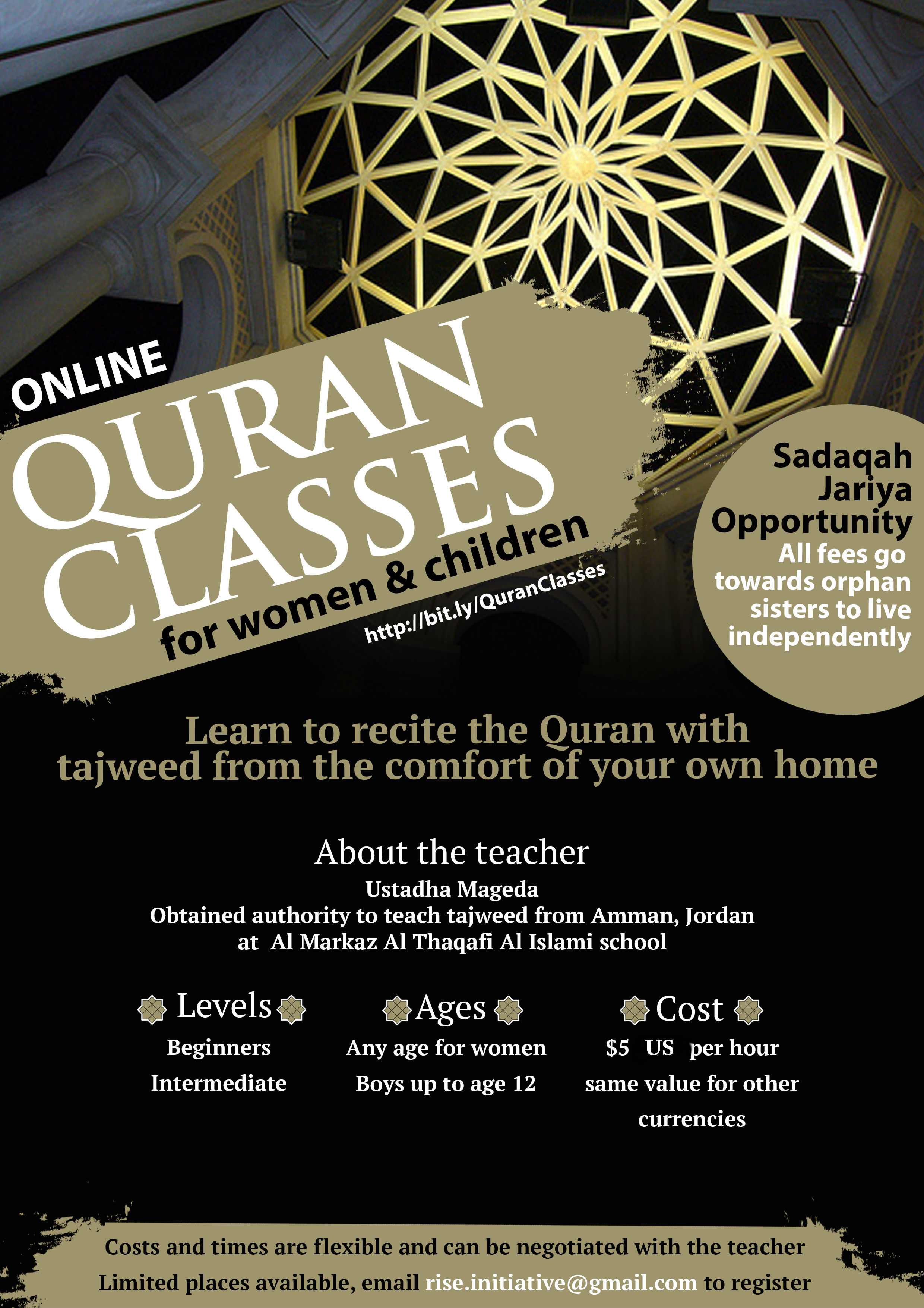RISE Orphan Project   1 to 1 Qur'an Classes from Home
